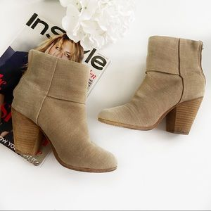 Rag & Bone canvas ankle boots in camel